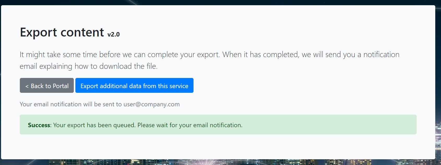 Confirmation Screen