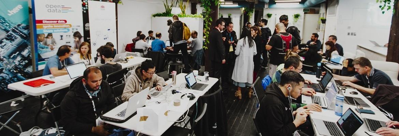 Picture of open data hackathon