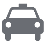 Private taxi pictogram