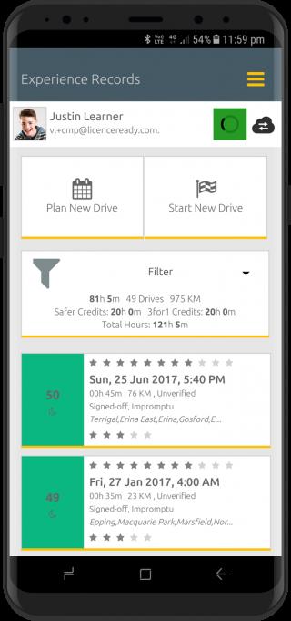 Screenshot of Licence Ready app