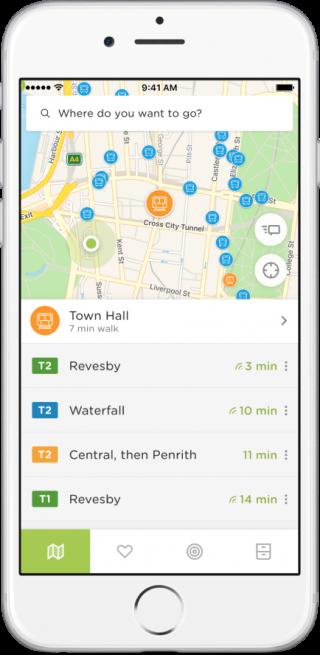 Screenshot of the Embark app