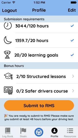 Screenshot of the Roundtrip app