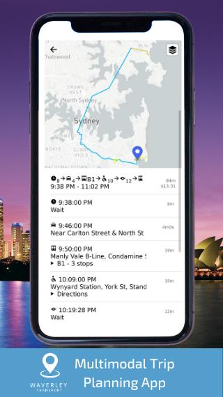 Waverley Transport App Screenshot