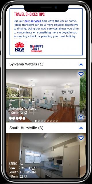 Screenshot of the finderful app
